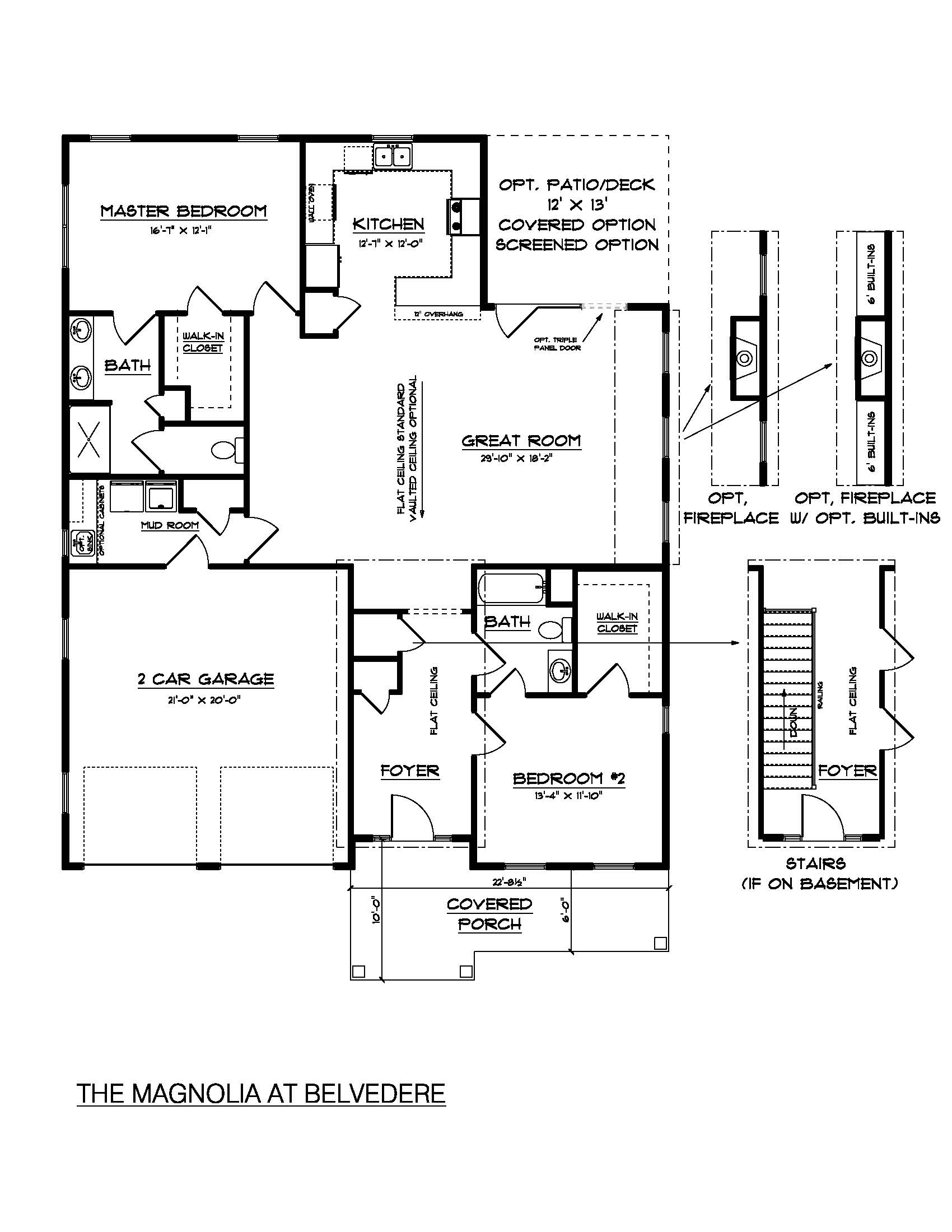 the magnolia - southern development homes